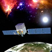Fermi Gamma-ray Space Telescope in orbit - Courtesy NASA