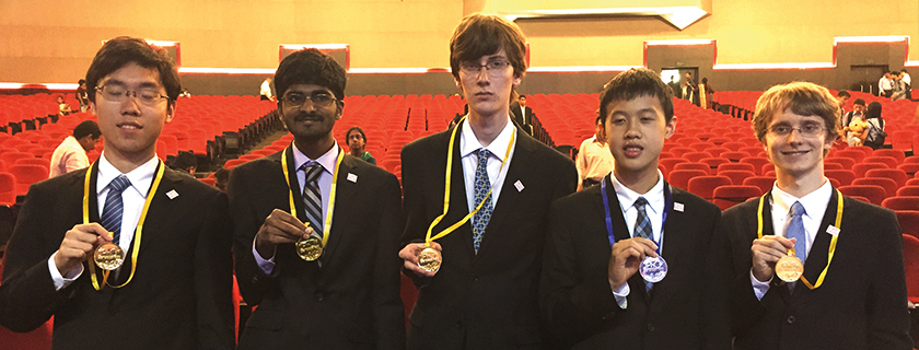 U.S. Physics Olympiad Team Returns With Gold and Silver<br /> The high school competitors earned second place overall.