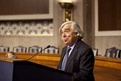 DOE Secretary Ernest Moniz addresses attendees of the National Lab Day on the Hill