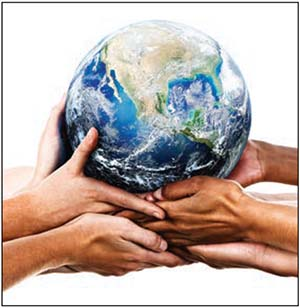 earth in hands image