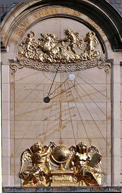Sundial at the Sorbonne in Paris